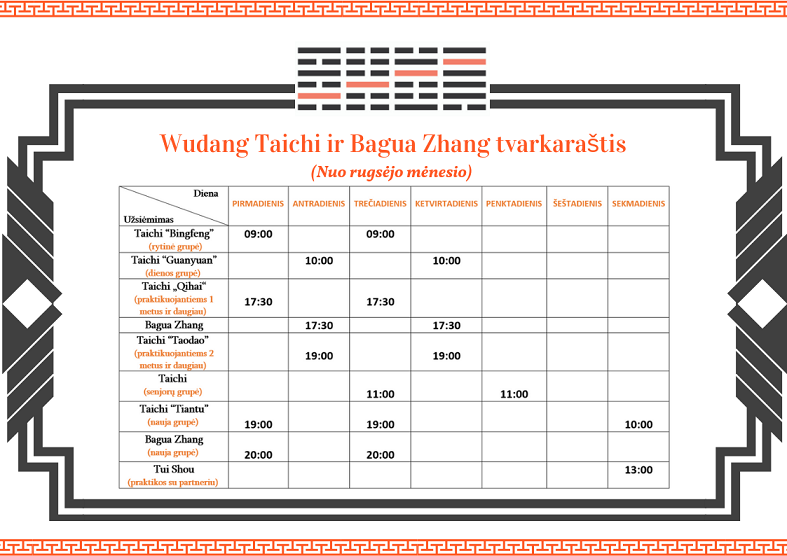 Wudang Taichi ir Bagua Zhang tvarkaraštis (3)